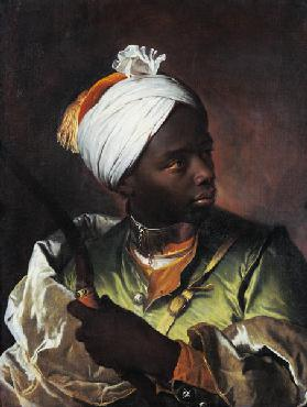 Young black boy with a Bow 1510