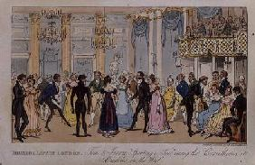 Highest Life in London: Tom and Jerry 'Sporting a Toe' among the Corinthians at Almacks in the West, 1821 oured