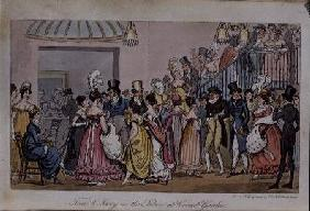 Tom and Jerry in the Saloon at Covent Garden, from 'Life in London' by Pierce Egan 1821 oured