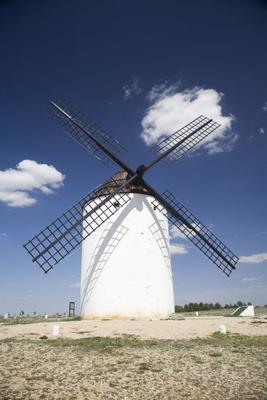 spanish mill with cloud