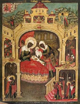 Kunstdruck von  Ikone - Die Geburt Mariae