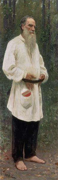 Leo Tolstoy Barefoot / Repin