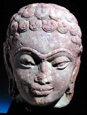 Head of a Jain Tirthankara, Mathura Region, Kushan period 3rd-4th ce