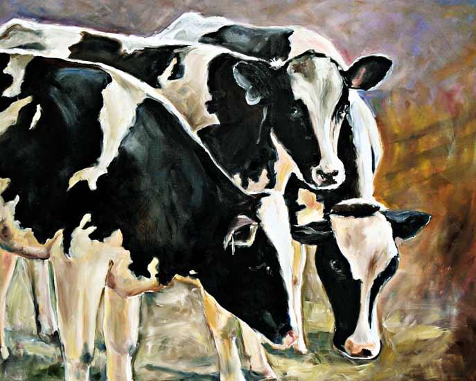 K he 2 ingeborg kuhn als kunstdruck oder handgemaltes gem lde - Cuadros de vacas ...