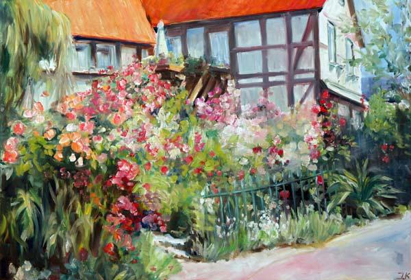 Blumengarten Bilder blumengarten 2 ingeborg kuhn als kunstdruck oder handgemaltes gemälde