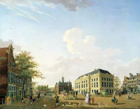 A View on the Leidse plein in Amsterdam 1778
