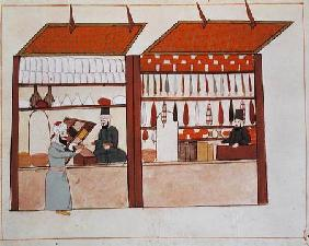 Ms 1671 A Shop Selling Different Merchandise c.1580