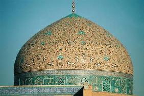 The dome of the Masjid-i-Sheikh Lutfallah built 1602