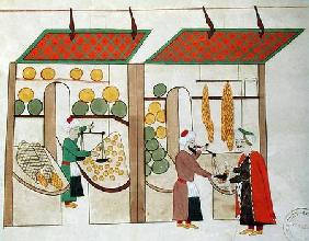 Ms.1671 Two Fruit Shops c.1580