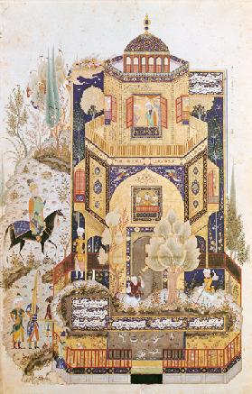 Khusrau in front of the Palace of Shirin 1504