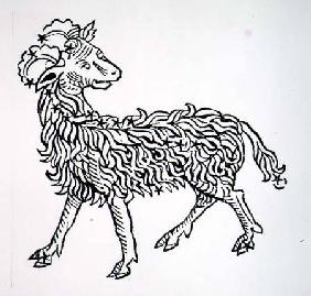 Aries (the Ram) an illustration from the 'Poeticon Astronomicon' by C.J. Hyginus, Venice 1485