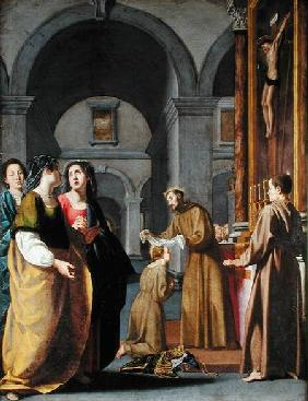 St. Clare Receiving the Ve...