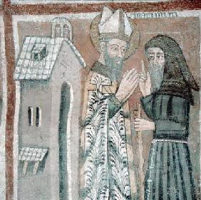 St. Gregory the Great (540-604) with a Monk