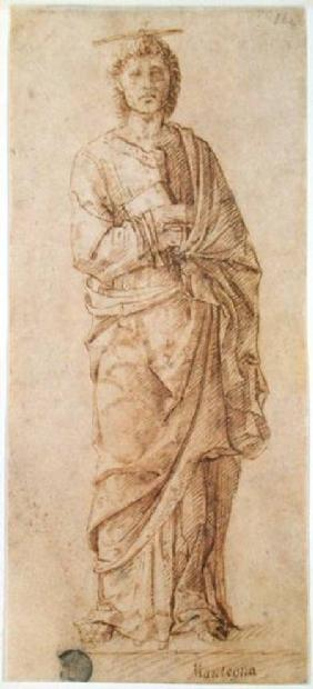 St. John the Evangelist attributed to either Giovanni Bellini (c.1430-1516) or Andrea Mantegna (1430  c.1430-15