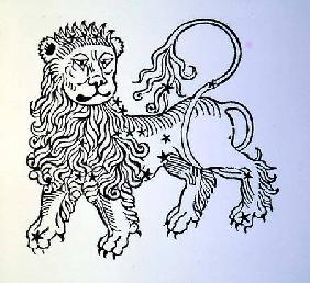 Leo (the Lion) an illustration from the 'Poeticon Astronomicon' by C.J. Hyginus, Venice 1485