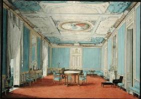 A Neo-classical Palace Interior in Naples c.1830  w/