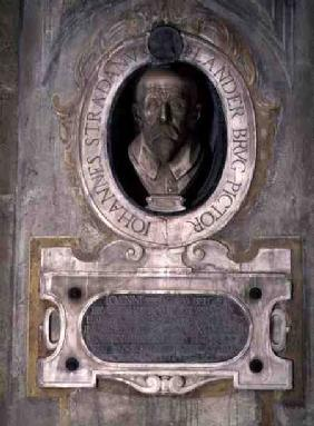Portrait bust of Joannes Stradanus, Flemish-born painter, draughtman and tapestry designer, born Jan also known