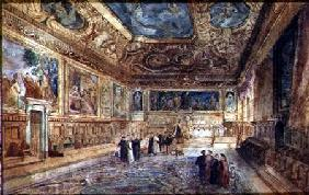 View of the Interior of the Doge's Palace in Venice c.1840  on