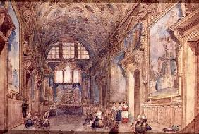 View of an Interior of the Doge's Palace in Venice c. 1840