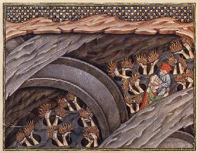 Ms 207 f.245 Dante's Inferno with a commentary by Guiniforte delli Bargigi