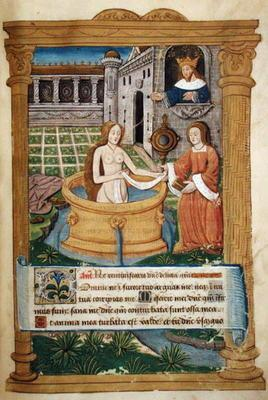 Ms Lat 623 P.6.23 f.49r David and Bathsheba, from the 'Office of the Virgin' (vellum) 1833