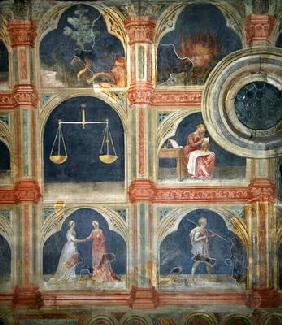 The Month of September, from a series of murals depicting the Astrological Cycle (fresco) 1796