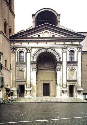 View of the facade designed by Leon Battista Alberti (1404-72) built after his death by Luca Fancell 1833