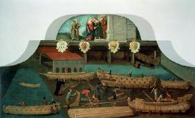 Sign of the Venetian Boat Builders' Guild, 1517 (panel) 1893