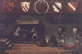 Sign of the Venetian Coal Porters' Guild (panel) 17th