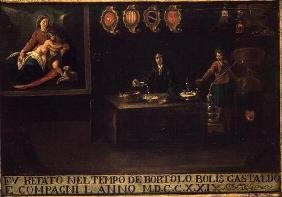 Sign of the Venetian Pharmacists' Guild, 1729 (panel) 19th