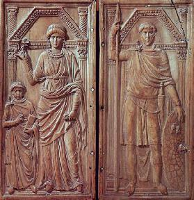 Diptych depicting Stilicho (c.365-408), Serena and Eucharius 5th centur