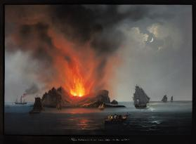 New Volcano Erupting from the Sea around Sicily in 1831 1831