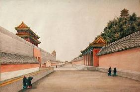 The Imperial Palace in Peking, from a collection of Chinese Sketches 1804-06  o