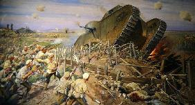 The Capturing of a Tank near Kakhovka, 1927 (oil on canvas) 1905