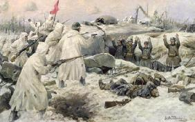 The Surrender of the Finns in 1940 (Russian-Finnish War), 1940 (oil on canvas) 14th