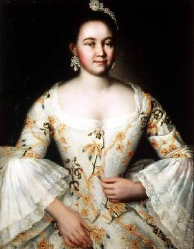 Portrait of the wife of Mikhail Yakovlev after 1756