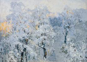 Trees in Wintry Silver 1910