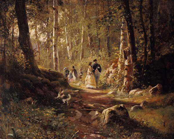 Spaziergang im Wald 1869