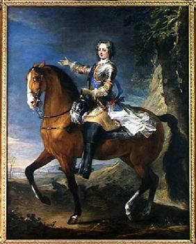 Equestrian Portrait of Louis XV (1710-74) at the age of thirteen 1723