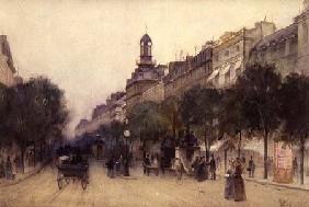 The Boulevard des Italiens, Paris 1887  on