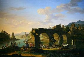 The Ponte Rotto in Rome (oil on canvas) 15th