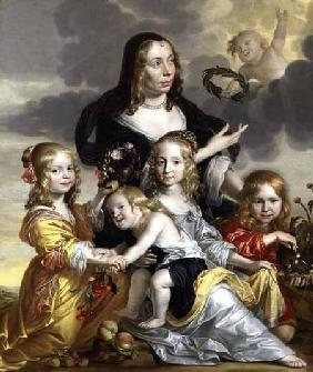 Portrait of a Lady with her Four Children