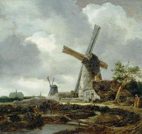 Landscape with Windmills, near Haarlem c.1650-52
