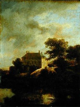 Landscape with country house