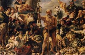Diogones-mit-der-Laterne--auf-dem-Markte-Menschen-suchend