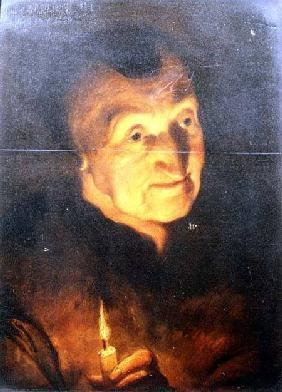 Study of an Old Woman, holding a Candle