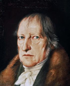 Portrait of Georg Wilhelm Friedrich Hegel (1770-1831) 1825