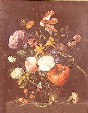 Flowers in a Glass Vase c.1670