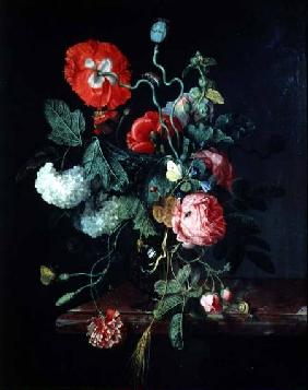 Flowers in a Glass Vase 1667