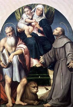 St. Anne with the Infant Virgin Between St. Jerome and St. Francis 1541